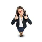 Mulher de negócios alegre Imagens de Stock