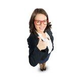 Mulher de negócios alegre Fotos de Stock