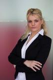 Mulher de negócios ambiciosa fotografia de stock