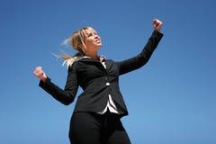 Mulher de negócios ambiciosa nova Imagens de Stock Royalty Free