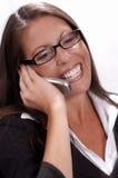 Mulher de negócios amigável Fotografia de Stock