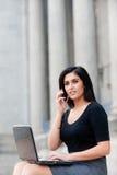 Mulher de negócios ao ar livre foto de stock royalty free