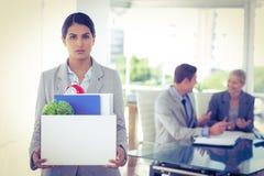 A mulher de negócios após ser deixou vai Imagens de Stock Royalty Free