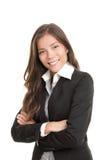 Mulher de negócios asiática nova bonita Fotos de Stock