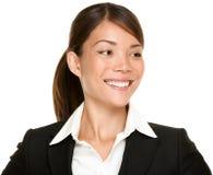 Mulher de negócios asiática que olha lateralmente Imagem de Stock Royalty Free