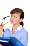 Mulher de negócios atrativa Imagem de Stock