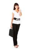 Mulher de negócios atrativa nova imagem de stock royalty free
