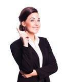 Mulher de negócios atrativa que tem uma ideia Fotos de Stock Royalty Free