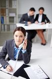 Mulher de negócios bem sucedida Imagens de Stock
