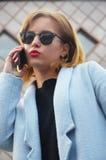 Mulher de negócios bem sucedida e ambiciosa Imagem de Stock