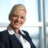 Mulher de negócios bonita Fotografia de Stock