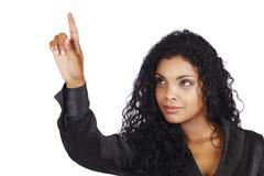 Mulher de negócios bonita do americano africano fotos de stock royalty free