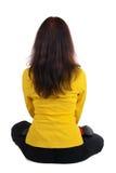 Mulher de negócios bonita que exercita a ioga Foto de Stock