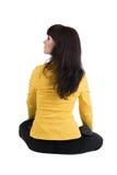 Mulher de negócios bonita que exercita a ioga. Imagens de Stock Royalty Free