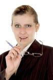 Mulher de negócios: céptico fotos de stock