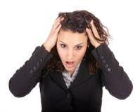Mulher de negócios choc foto de stock royalty free