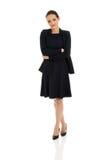 Mulher de negócios com braços dobrados Imagem de Stock