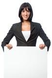 Mulher de negócios com cartão imagem de stock