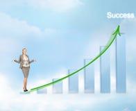 Mulher de negócios com carta 3d grande Fotos de Stock Royalty Free