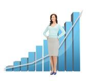 Mulher de negócios com carta 3d grande Imagens de Stock