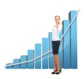 Mulher de negócios com carta 3d grande Fotos de Stock