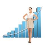Mulher de negócios com carta 3d grande Fotografia de Stock