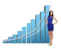 Mulher de negócios com carta 3d grande Imagem de Stock Royalty Free