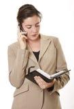 Mulher de negócios com diário Foto de Stock