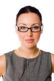 Mulher de negócios com espetáculos Fotos de Stock