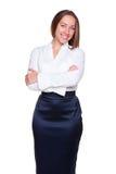 Mulher de negócios com mãos cruzadas Foto de Stock Royalty Free
