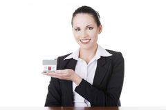 Empréstimo de bens imobiliários ou conceito do seguro Fotos de Stock Royalty Free