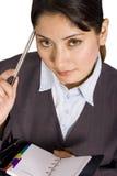 Mulher de negócios com organizador Fotos de Stock Royalty Free