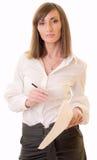 Mulher de negócios com originais Fotografia de Stock Royalty Free