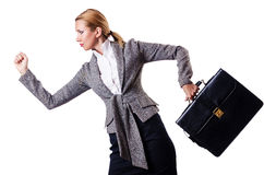 Mulher de negócios com pasta Imagem de Stock Royalty Free