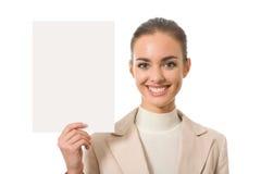 Mulher de negócios com quadro indicador Imagem de Stock Royalty Free