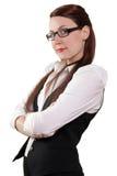 Mulher de negócios com seus braços cruzados Imagem de Stock Royalty Free