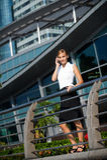 Mulher de negócios com telefone Imagem de Stock Royalty Free