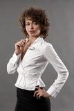 Mulher de negócios com vidros fotografia de stock