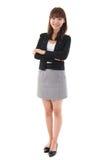 Mulher de negócios completa do asiático do comprimento Fotos de Stock