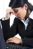 Mulher de negócios comprimida Imagem de Stock