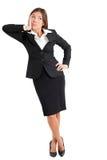 Mulher de negócios confusa Looking Away Fotos de Stock Royalty Free