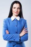 Mulher de negócios consideravelmente confiável fotografia de stock