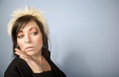Mulher de negócios creativa com espaço da cópia Imagens de Stock
