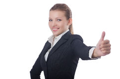 Mulher de negócios da mulher Fotografia de Stock Royalty Free