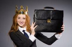 Mulher de negócios da rainha Imagens de Stock