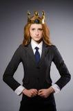 Mulher de negócios da rainha Imagem de Stock