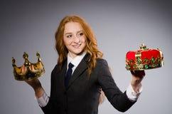 Mulher de negócios da rainha Imagem de Stock Royalty Free