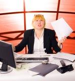 Mulher de negócios da raiva imagens de stock royalty free