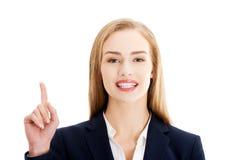 Mulher de negócios de fala Fotografia de Stock Royalty Free