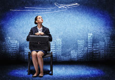 Mulher de negócios de grito Imagens de Stock